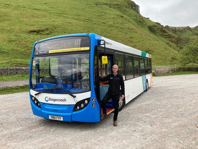 Andrew McCloy, chair of the Peak District National Park Authority, with the Hope Valley Explorer