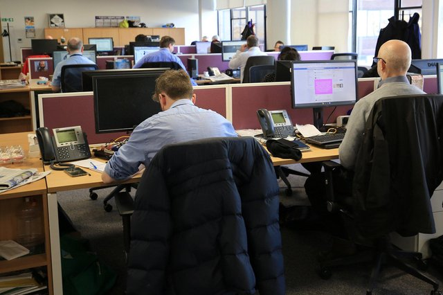 The Star newsroom, Sheffield.