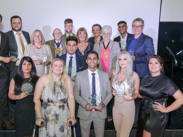 Apprentices at a previous awards event in 2019.
