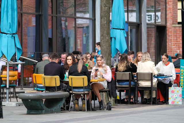 Groups of people enjoy being in one of Sheffield's beer garden