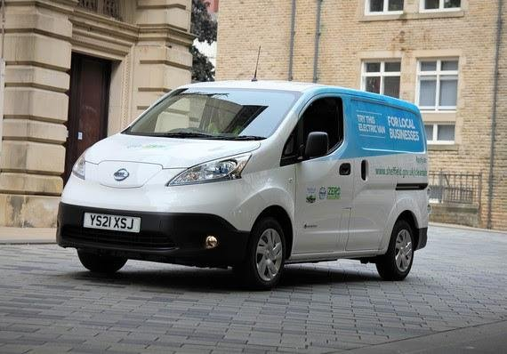 Sheffield Council has 30 electric vehicles available for local businesses, charities and organisations to trial with free hire.
