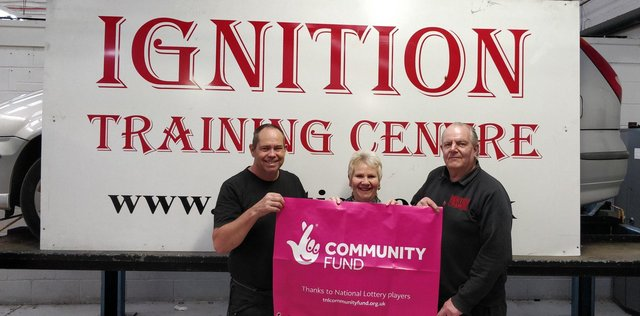 David Brazer, left, founder of Ignition Training, with Janette Haddon and Steve Sylvester.