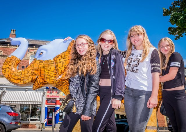 Sheffield Children's Hospital Charity and The Star teamed up for a Herd of Sheffield Elephant Fun Day on Devonshire Green