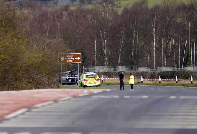 A man died in a collision on Pleasley Road , Whiston, yesterday. Picture Scott Merrylees