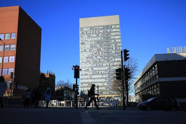 The University of Sheffield Arts Tower.