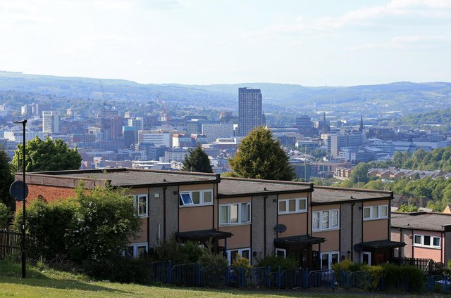 Houses and flats, or residential apartments, are pictured in Sheffield (Photo by Lindsey Parnaby / AFP) (Photo by LINDSEY PARNABY/AFP via Getty Images)