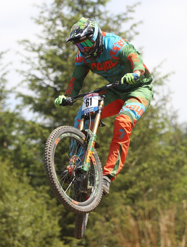 FORT WILLIAM, SCOTLAND - JUNE 05:  Steve Peat competes in the Men's Downhill at the UCI Mountain Bike World Cup on June 5, 2016 in Fort William, Scotland