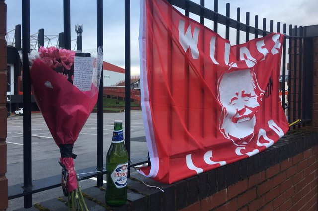 A tribute to Chris Wilder left by a Sheffield United fan at Bramall Lane after the manager left the club over the weekend
