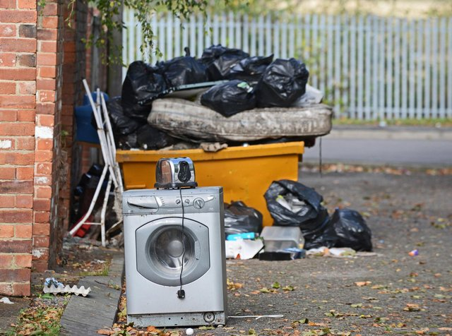 Reports of fly-tipping are on the rise again in Sheffield. Stock picture of fly-tipping taken by Marie Caley