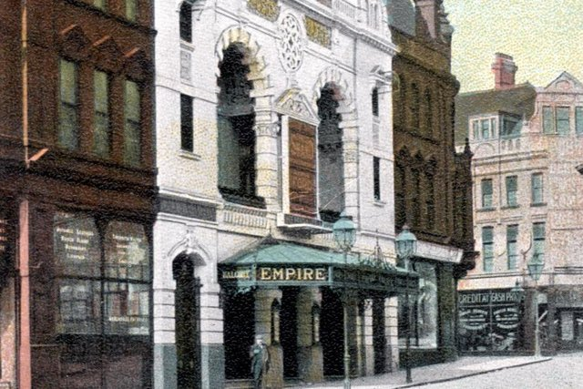 The Empire Theatre, Charles Street, where Houdini appeared, demolished in 1960, and pictured here around 1910 (Picture Sheffield ref no s01600)