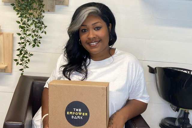 Hayley Ekwubiri, owner of E. Kays Hair and Beauty and founder of The Empower Bank.
