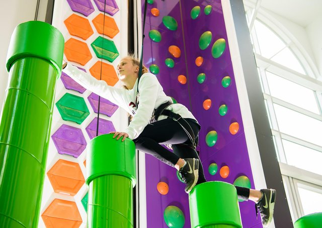 The Rock Up climbing centre at Meadowhall offers challenges for all the family