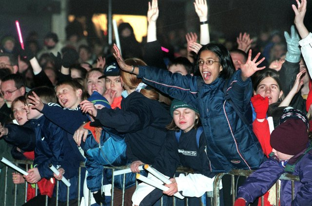 Who can you spot in these pictures from Christmas light switch on events from more than 20 years ago?