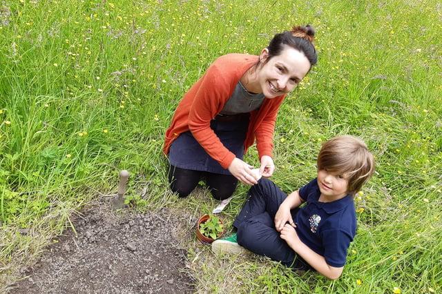 Mum and son Zoe and Luke Buchanan at Bingham Park