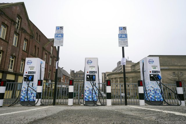 New electric car charging points have been installed in the Carver Lane car park