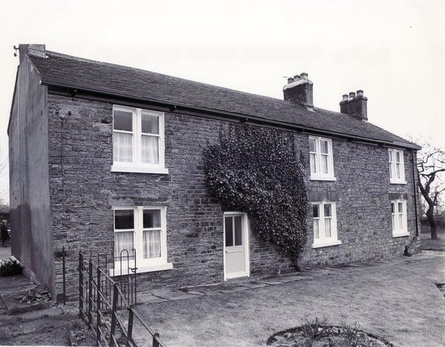 Jordanthorpe Hall Farm Cottages, the birth place of Sir Francis Chantrey - 7th April 1981