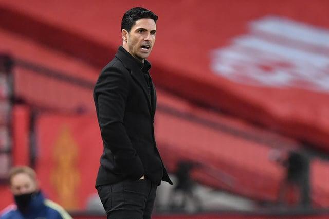 Arsenal's Spanish manager Mikel Arteta: PAUL ELLIS/POOL/AFP via Getty Images