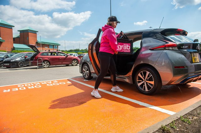The new food order parking bays at Meadowhall shopping centre in Sheffield. Photos by Meadowhall.