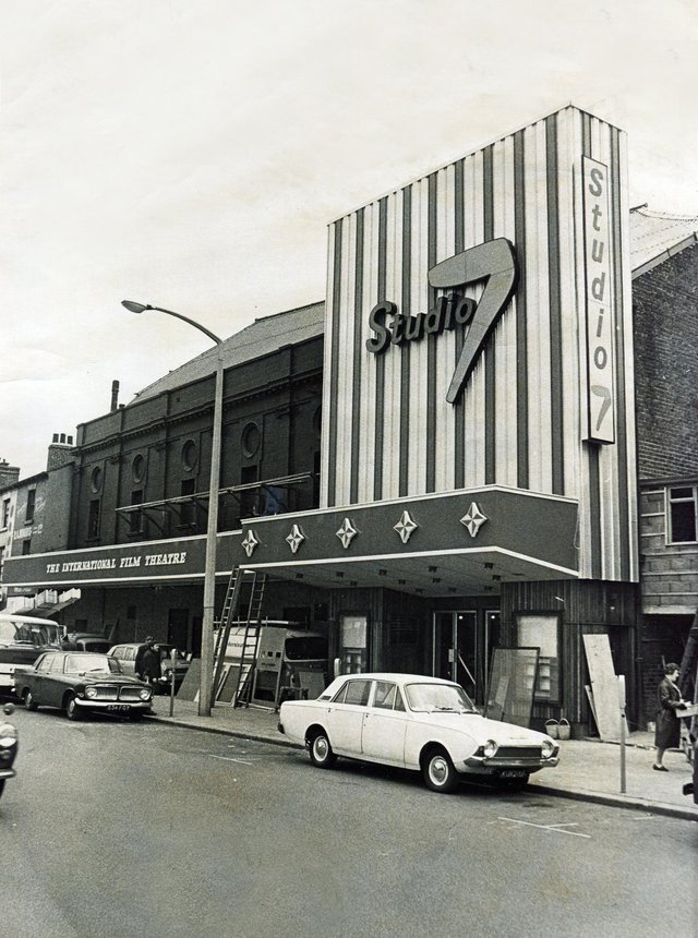 Studio 7 Cinema, The Wicker, Sheffield, pictured in 1968.Originally the Wicker Picture House which opened in 1920Finally closed in 1987 and demolished