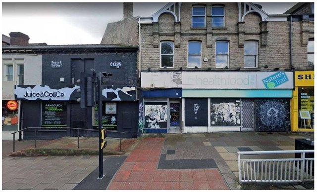 These buildings on Ecclesall Road could be refurbished into apartments and shops (image AAD Architects)