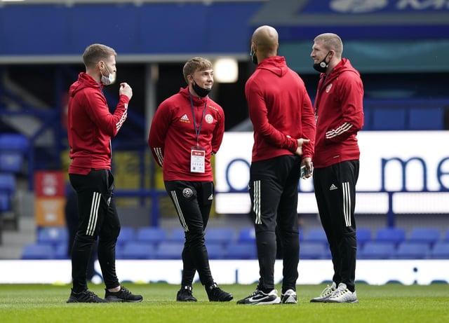 Sheffield United midfielder John Lundstram (R): Andrew Yates / Sportimage