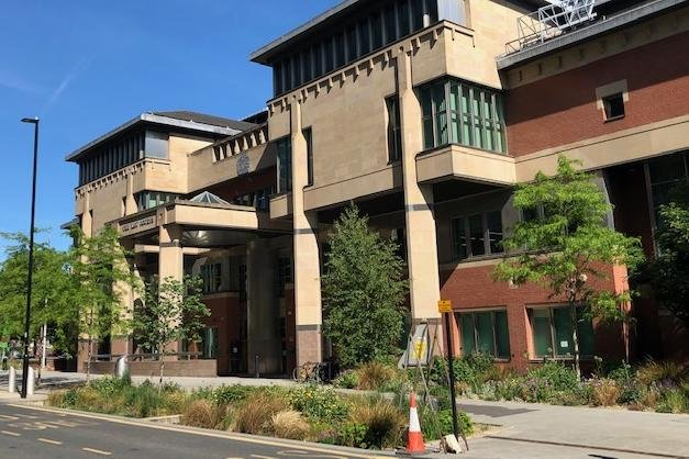 Sheffield Crown Court, pictured, heard how a blackmailer who breached his community order has been placed under a curfew.