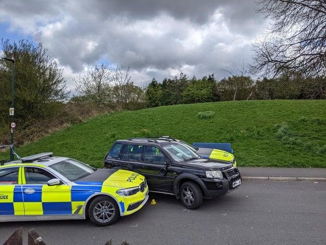 The Land Rover came to a stop on York Road after travelling up Nicholson Road.