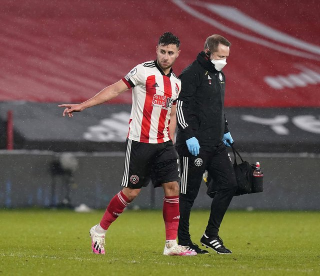 George Baldock is a major doubt for Sheffield United's game against Chelsea this weekend: Andrew Yates/Sportimage