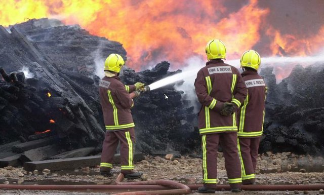 Stock picture shows firefighters in action