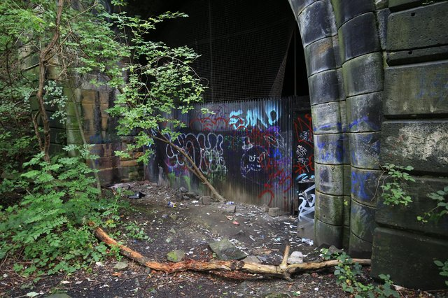 The Grade II-listed entrance to the famous 'Fiery Jack' tunnel in Sheffield