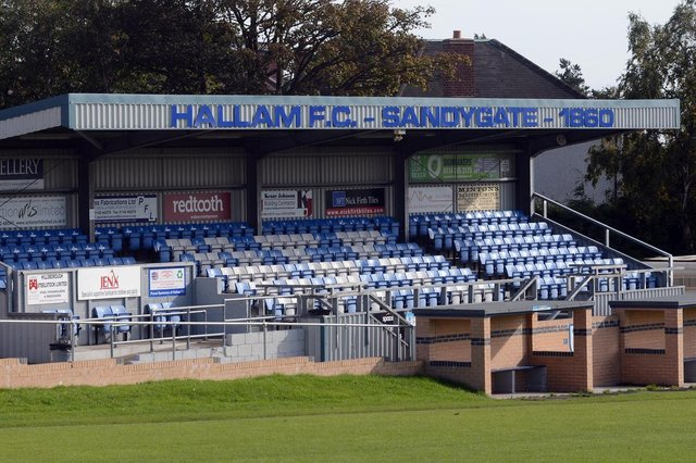 United were scheduled to face Hallam at Sandygate