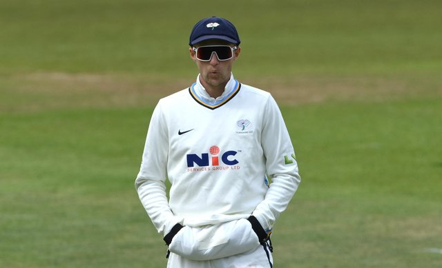 Joe Root sports some interesting eyewear during Yorkshire's game with Kent last week (Stu Forster/Getty Images)