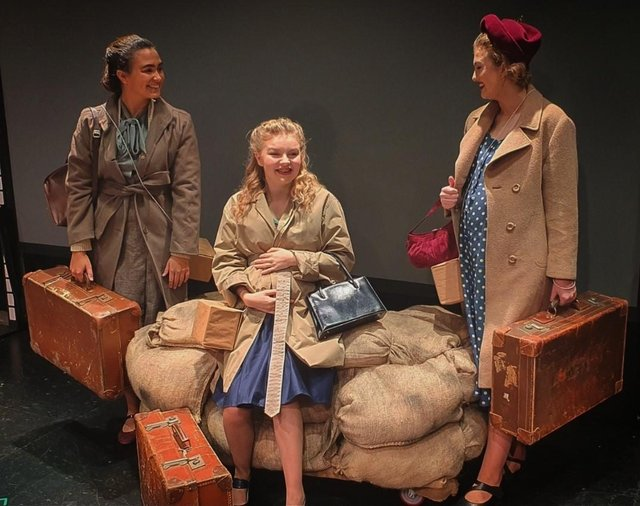 Derby University students McKenzie Barwick, Abby Gains and Charlotte Joliffe are the performers in The London Mothers.