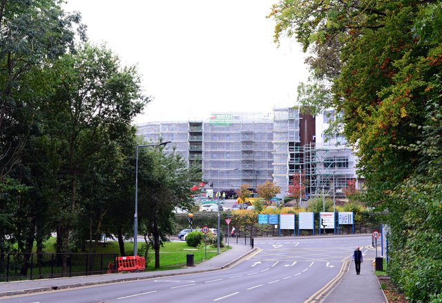 The Hadfield wing at Sheffield Northern General Hospital while works were going on.