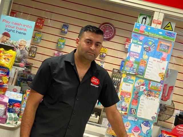 Nasar Raoof, 35, Banner Cross postmaster