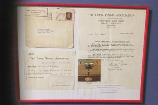 The photo shows the story of Anice Potter and hangs proudly in our house, sent in by Jeremy + Sue Biggin