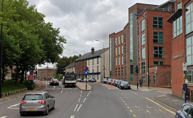 Mowbray Street in Sheffield, where the gang of youths were seen (pic: Google)