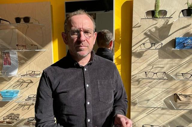 Karl Hallam of EYEYE opticians.