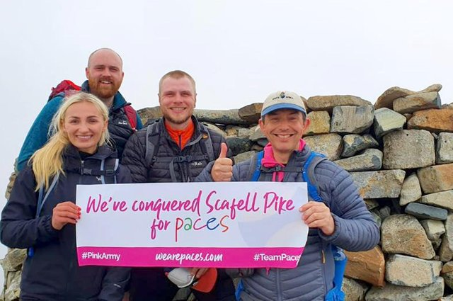 Paces, three peaks, Scafell Pike