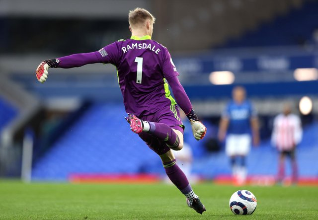 Aaron Ramsdale of Sheffield United has been linked with a summer transfer to Arsenal (Alex Pantling/Getty Images)