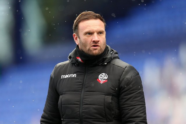 Bolton boss Ian Evatt says he had no intention of signing Phil Jagielka. (Photo by Lewis Storey/Getty Images)