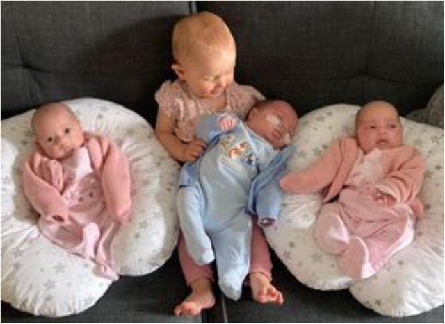 Jessica and Harry have welcomed four babies in the space of 11 months