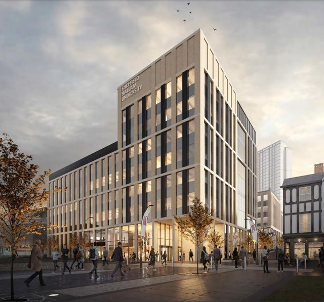 How The Campus Would Appear Looking Up Howard Street (Image Sheffield Hallam University)