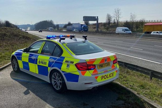 South Yorkshire Police found two children in a car driven by a motorist who was over the limit