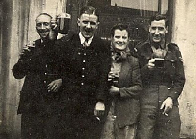Stan and three unknown friends
