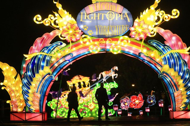A spectacular light and lantern festival created some dazzling Christmas magic as the award-winning Yorkshire Wildlife Park unveiled the Winter Illuminations trail today. Picture: Chris Etchells