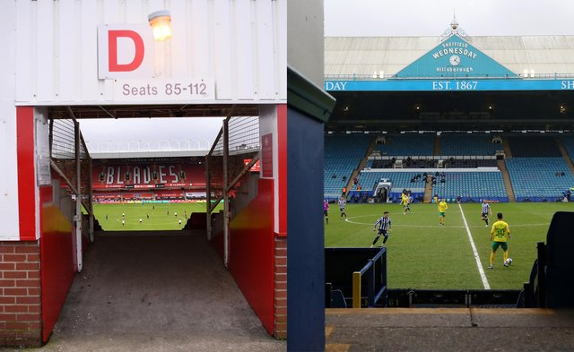 Empty stands on matchdays at Bramall Lane and Hillsborough