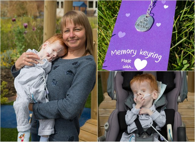 Sheffield mum Claire Malcolmson and her young son, Joe, who passed away at Bluebell Wood Children's Hospice