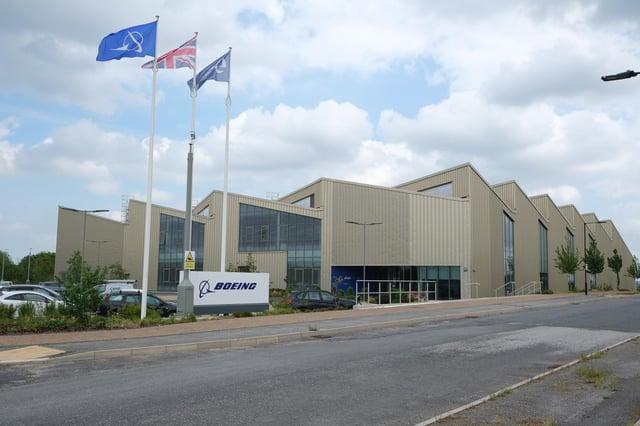 Boeing Sheffield factory on Sheffield Business Park.