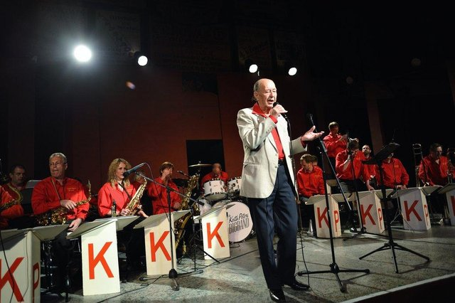 The Keith Peters Big Band on stage